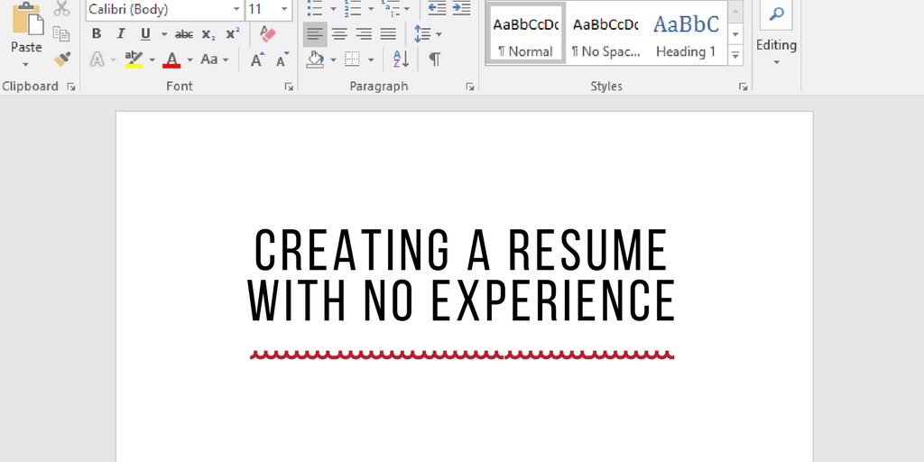 How To Create A Resume With Limited Experience Li Temps